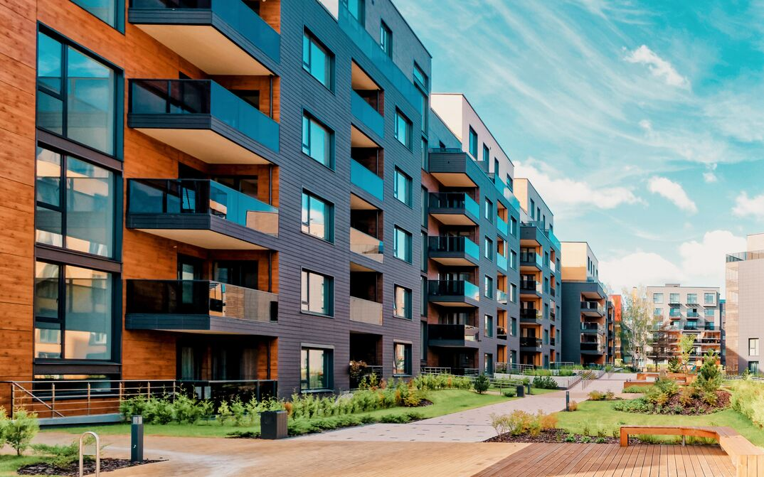 Europe modern complex of residential buildings
