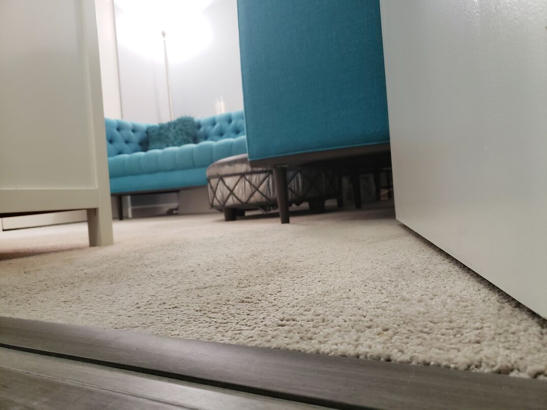 neutral rug in a living room