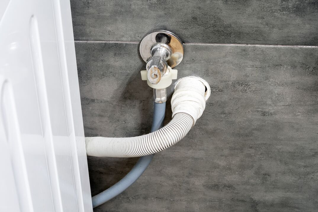 Clothes washer drain line