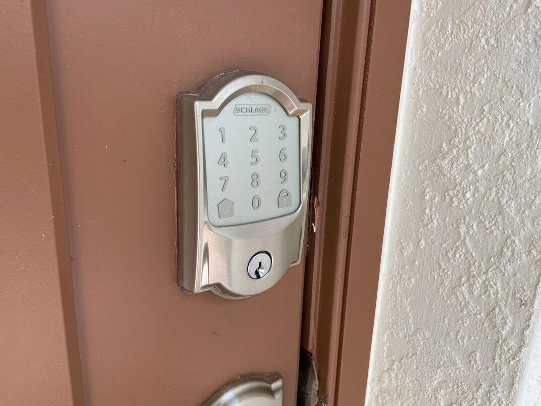 smart front door and keypad lock