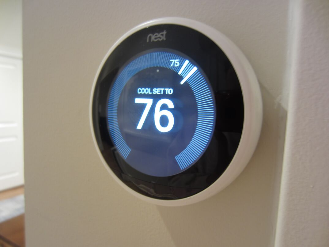 Nest home security and temperature control