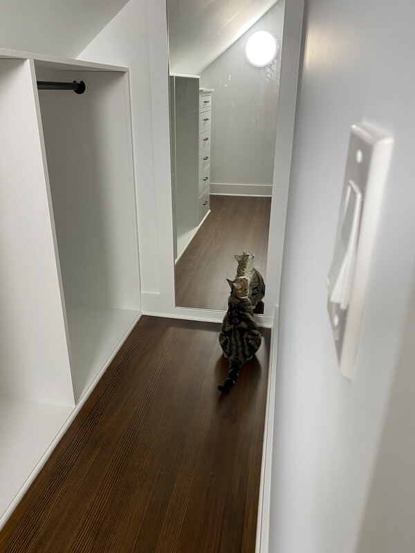 Closet renovation in a small space cape cod style home