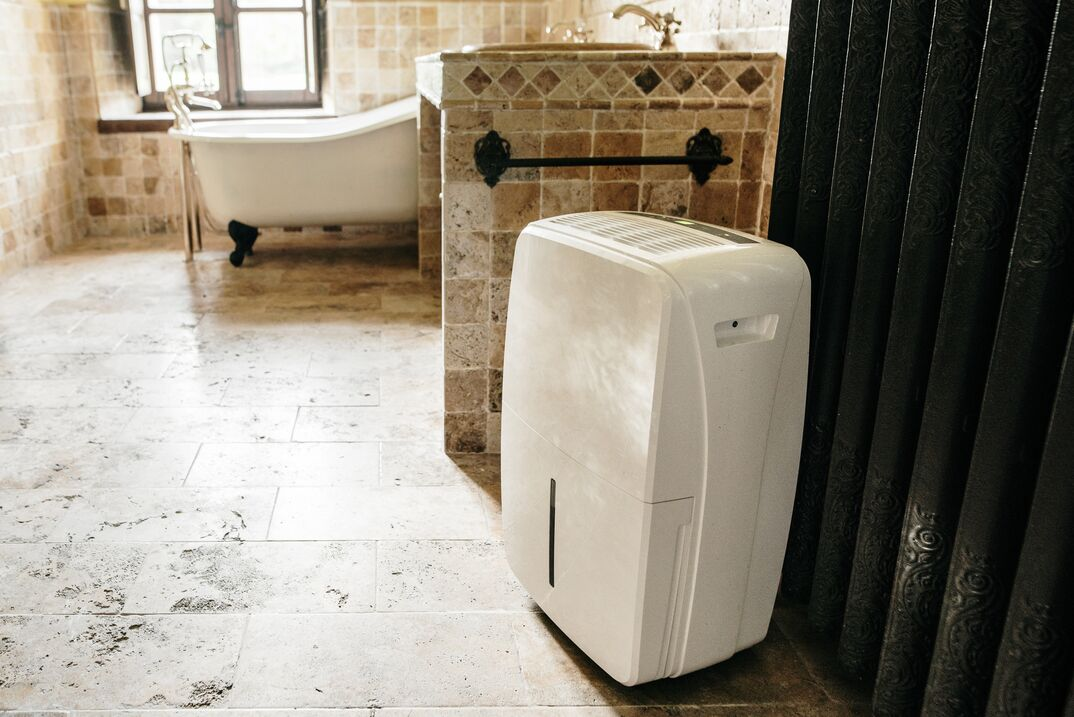 Dehumidifier in a bathroom