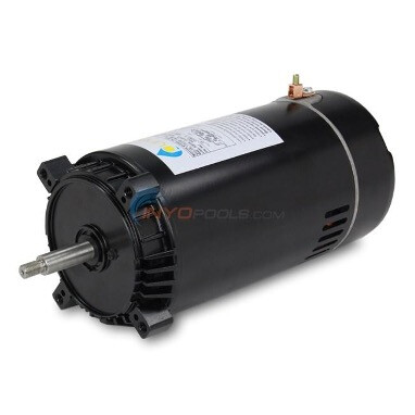 product photo of a black motor used as a swimming pool pump
