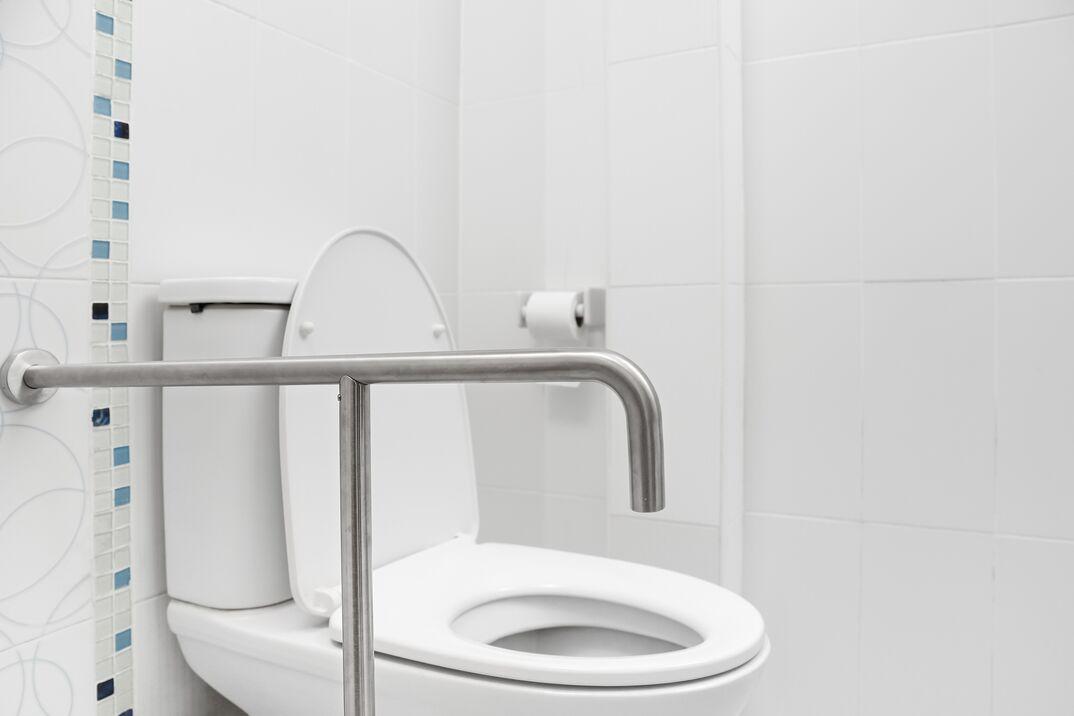restroom grab bars by toilet