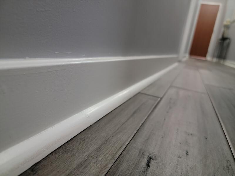 indoor hallway baseboard