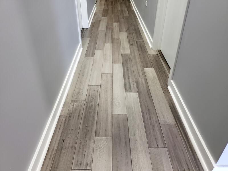 bamboo floor hallway
