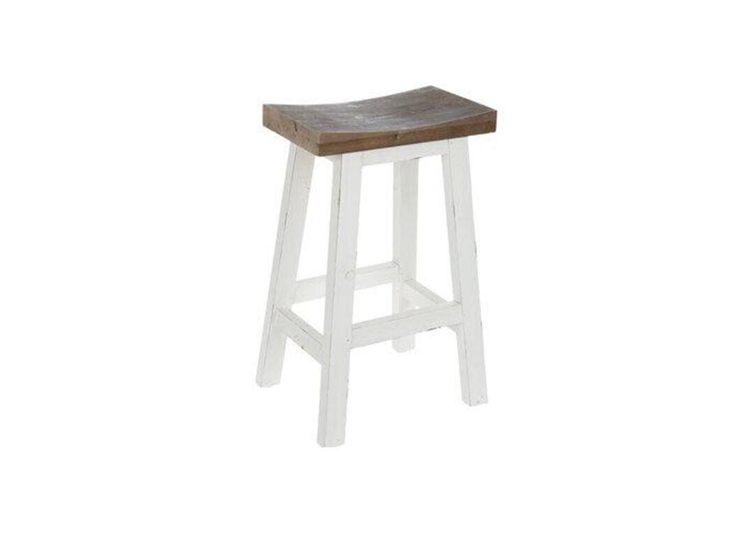 Stool with white