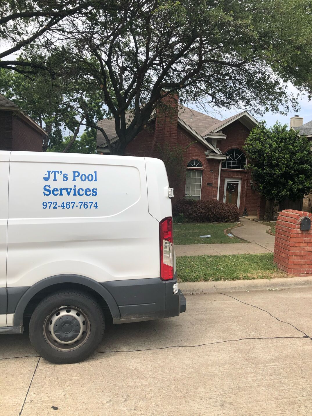 JT pool services van and equipment