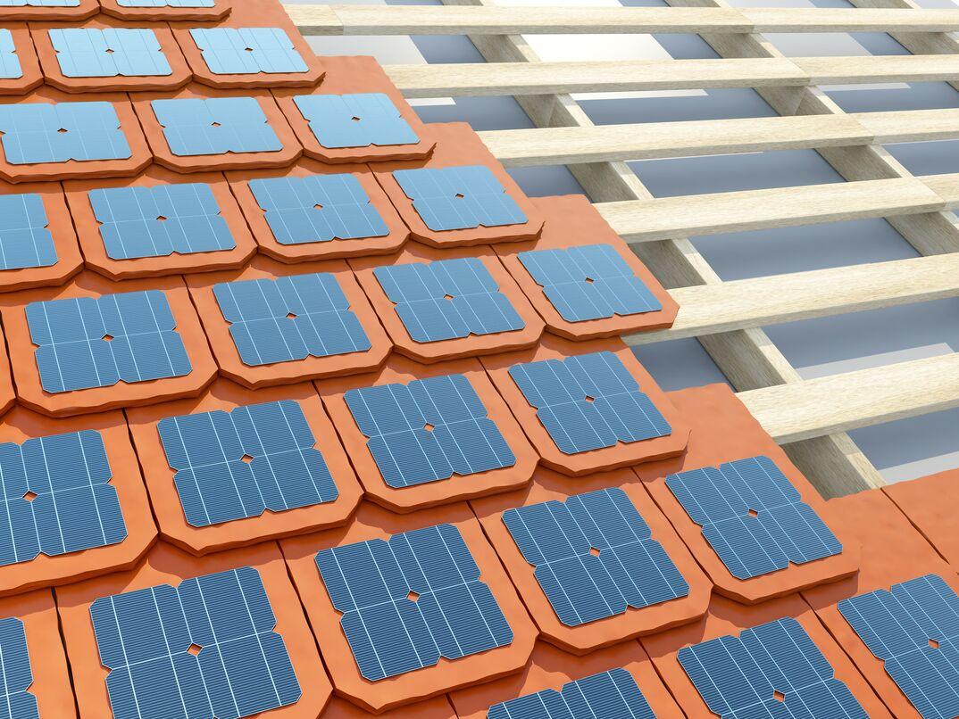 Laying solar shingles or tiles