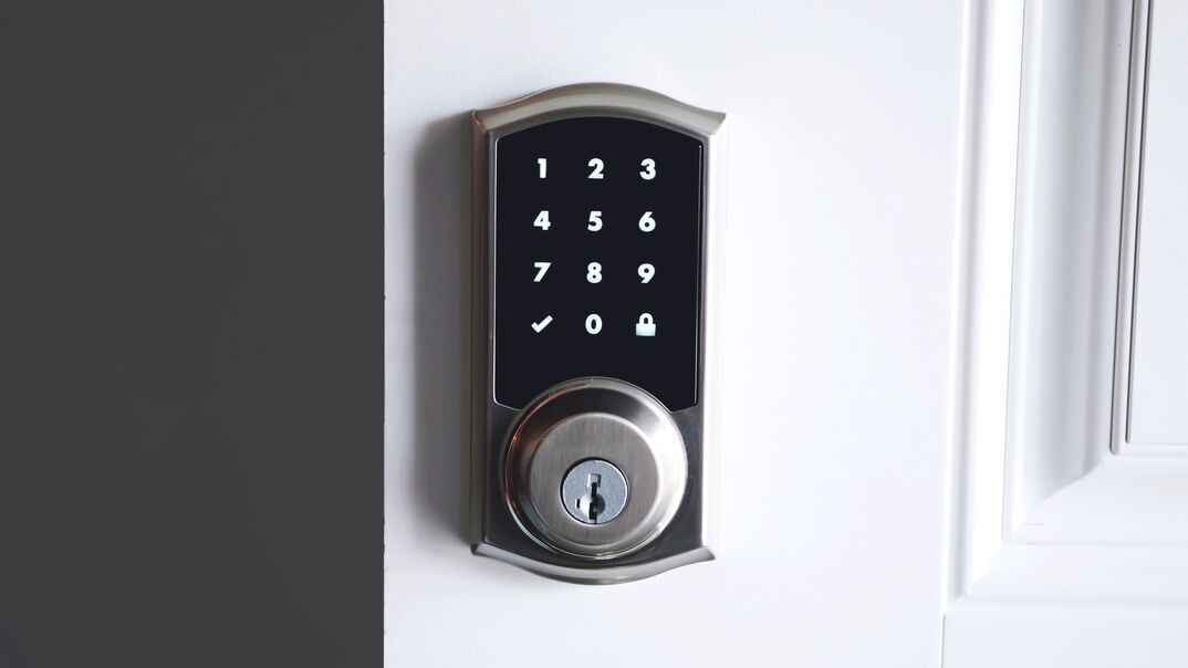 Digital smart door lock security system with the password