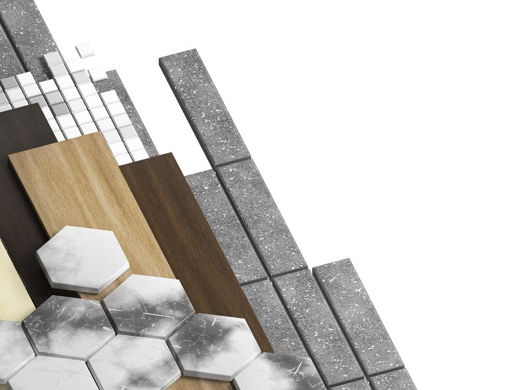 Set of design materials.