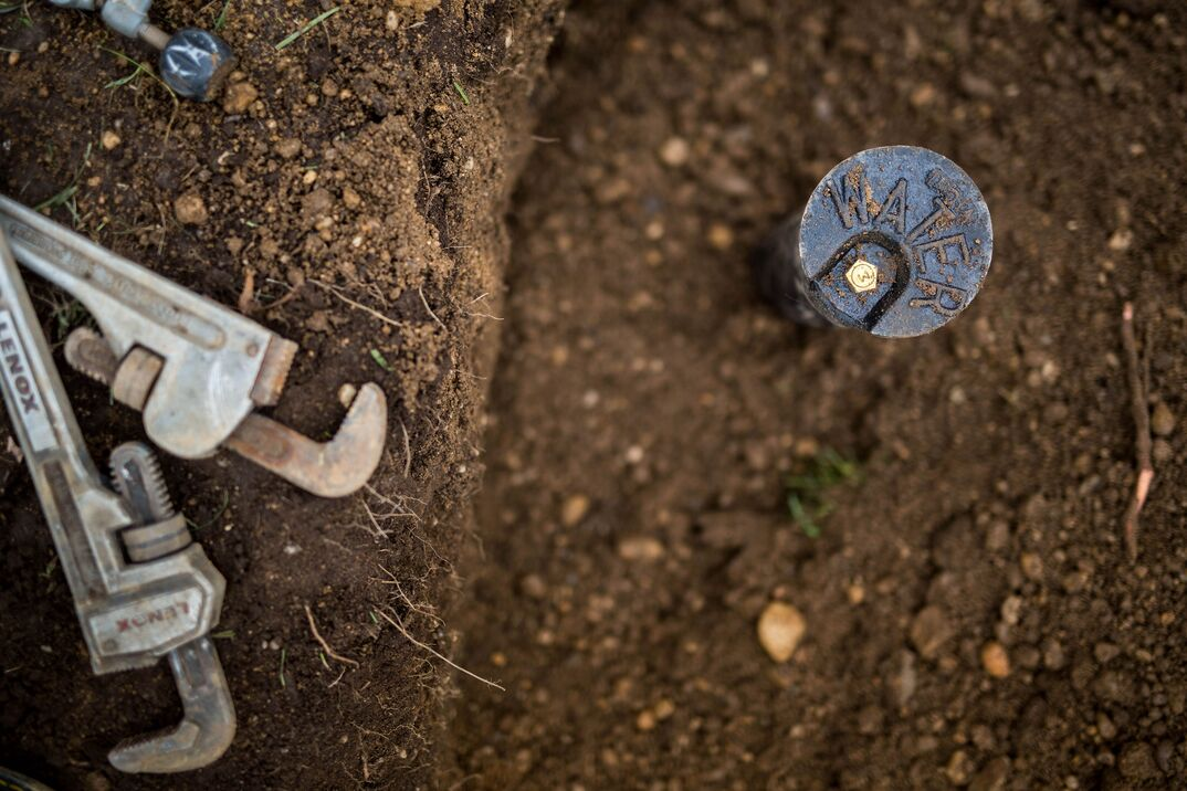 replace water sewer line