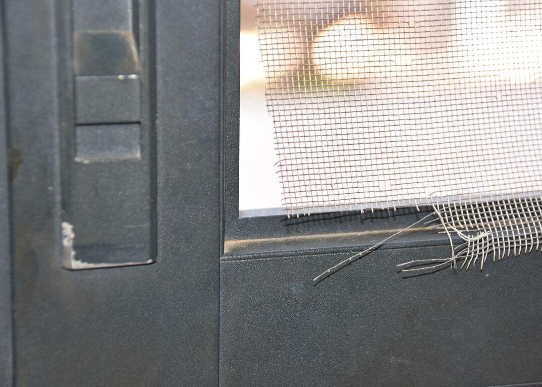 Damaged screen door