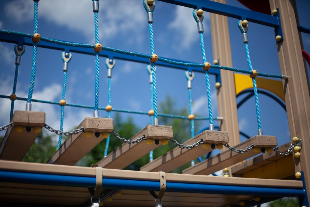 Rope ladder on the playground
