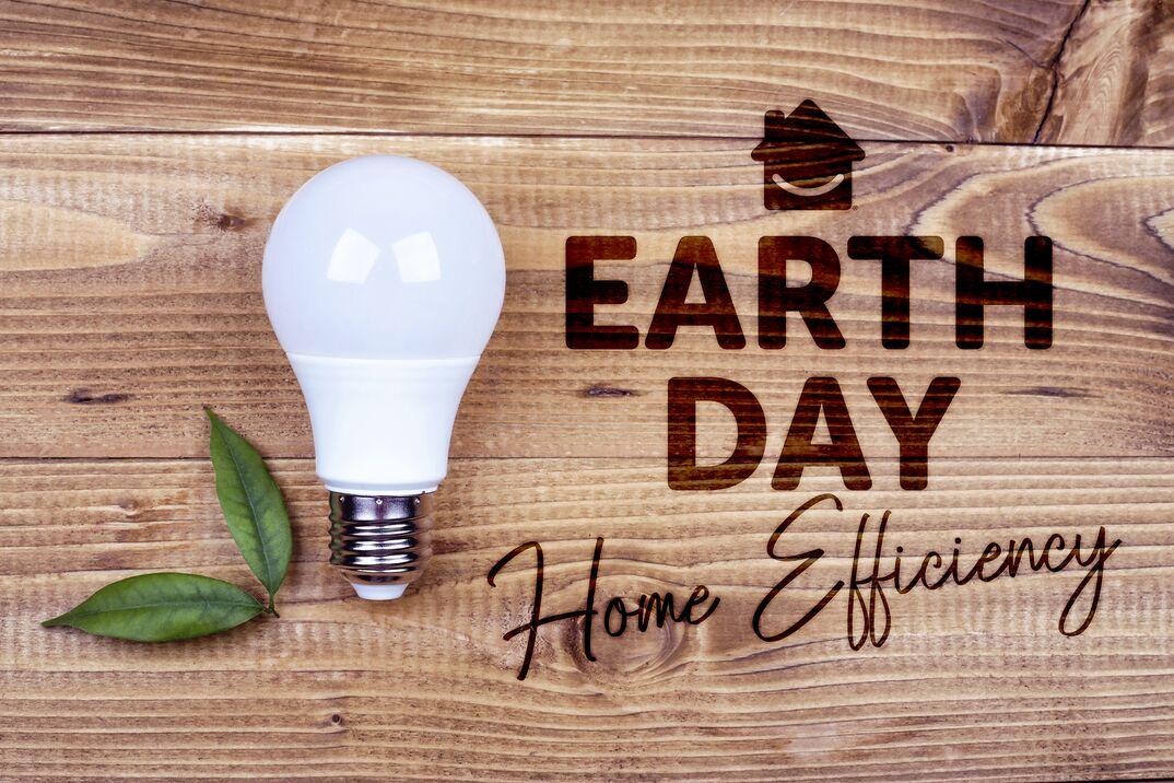 Earth Day Home Efficiency lightbulb