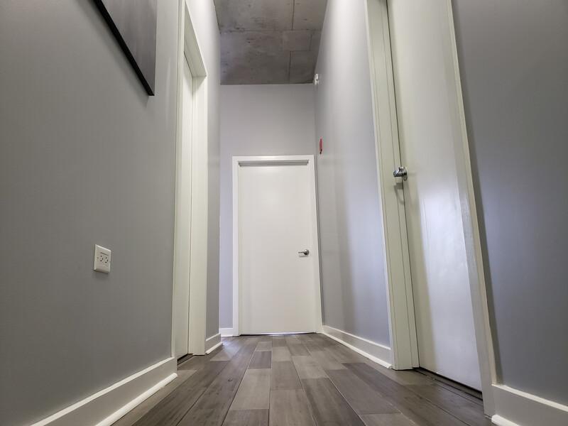 hallway in condo building