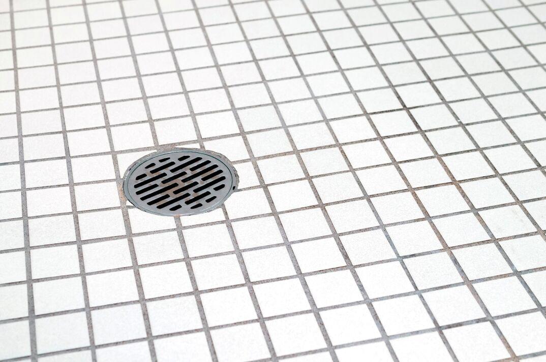 bathroom floor and bathroom drain