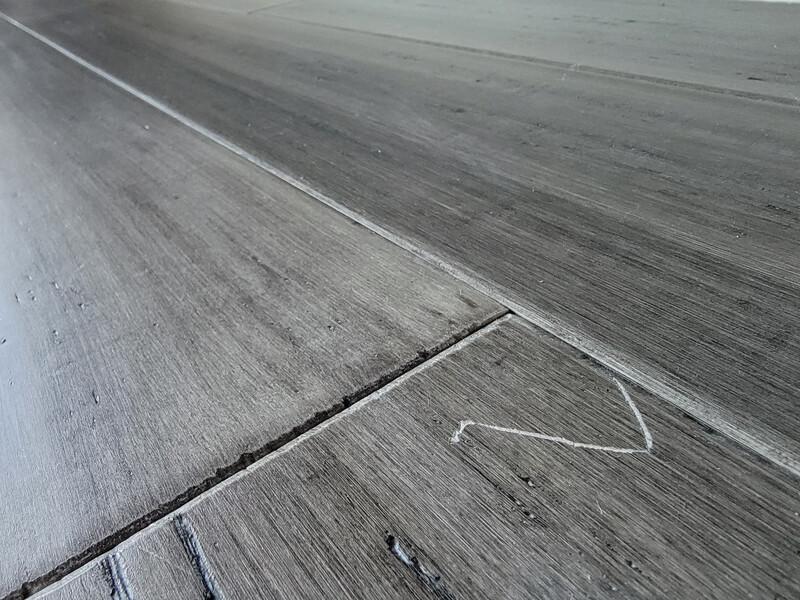 scratch and dent in hardwood floor
