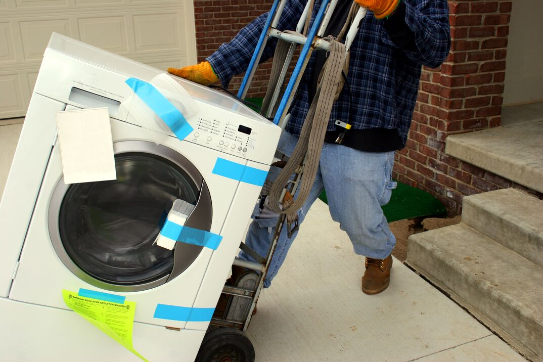 Moving Washing Machine