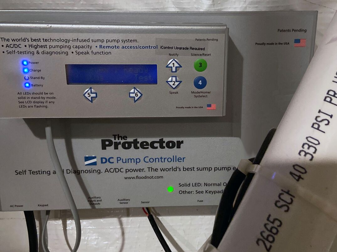 The protector battery backup and sump pump alarm