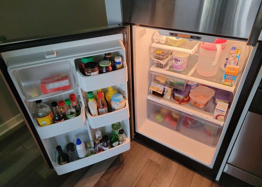 Open refrigerator door