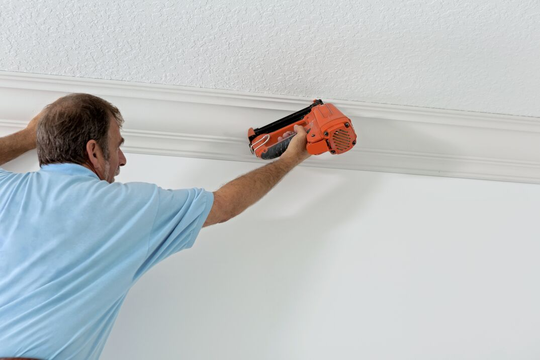 Construction  Installing crown molding