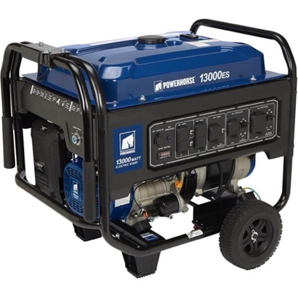 blue mobile generator