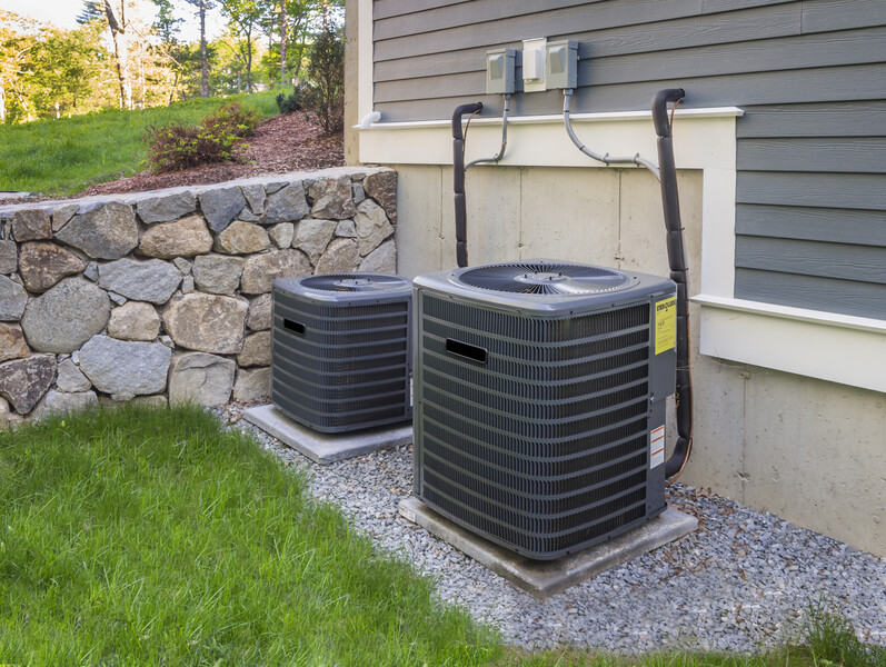 external HVAC air conditioner