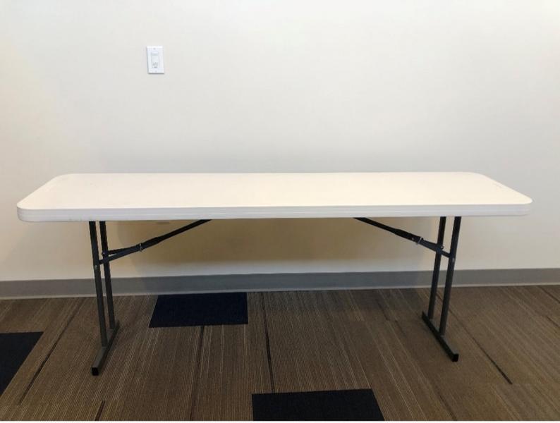 6-foot folding table open