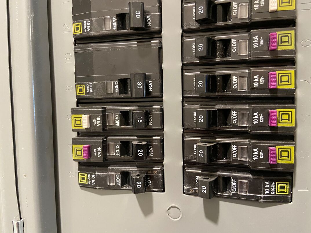 electrical circuit panel with switches