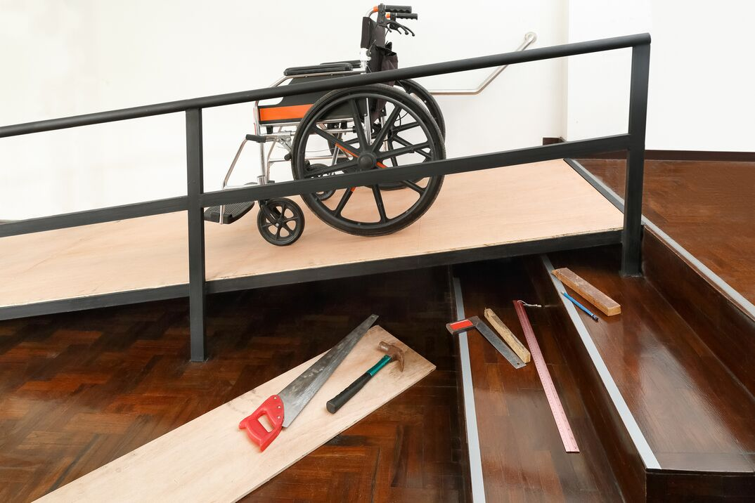 Home Improvement DIY Installation of a residential wheelchair ramp
