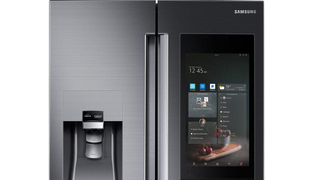 smart refrigerator in home kitchen