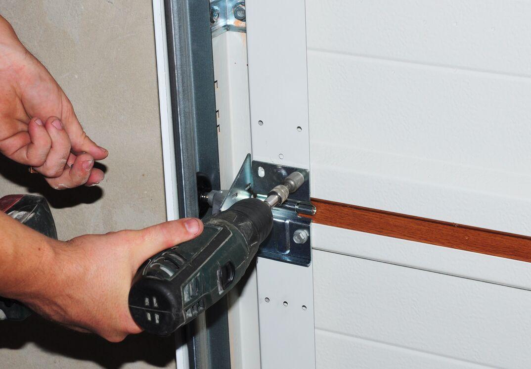 Contractor repair and replace garage door  Garage door installation